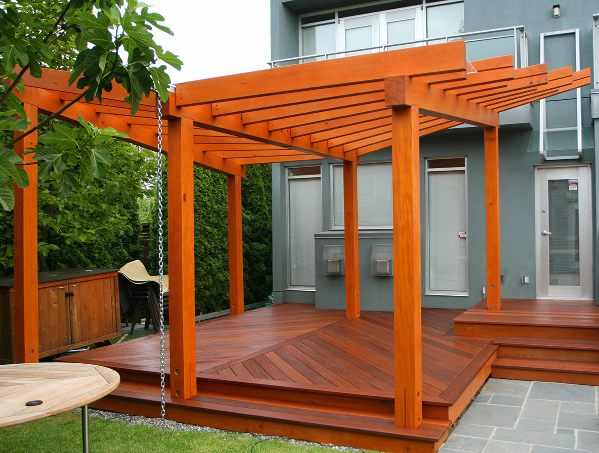 Deck Stain Pergola A wood ... - How To Stain A Wood Pergola Best Deck Stain Reviews Ratings