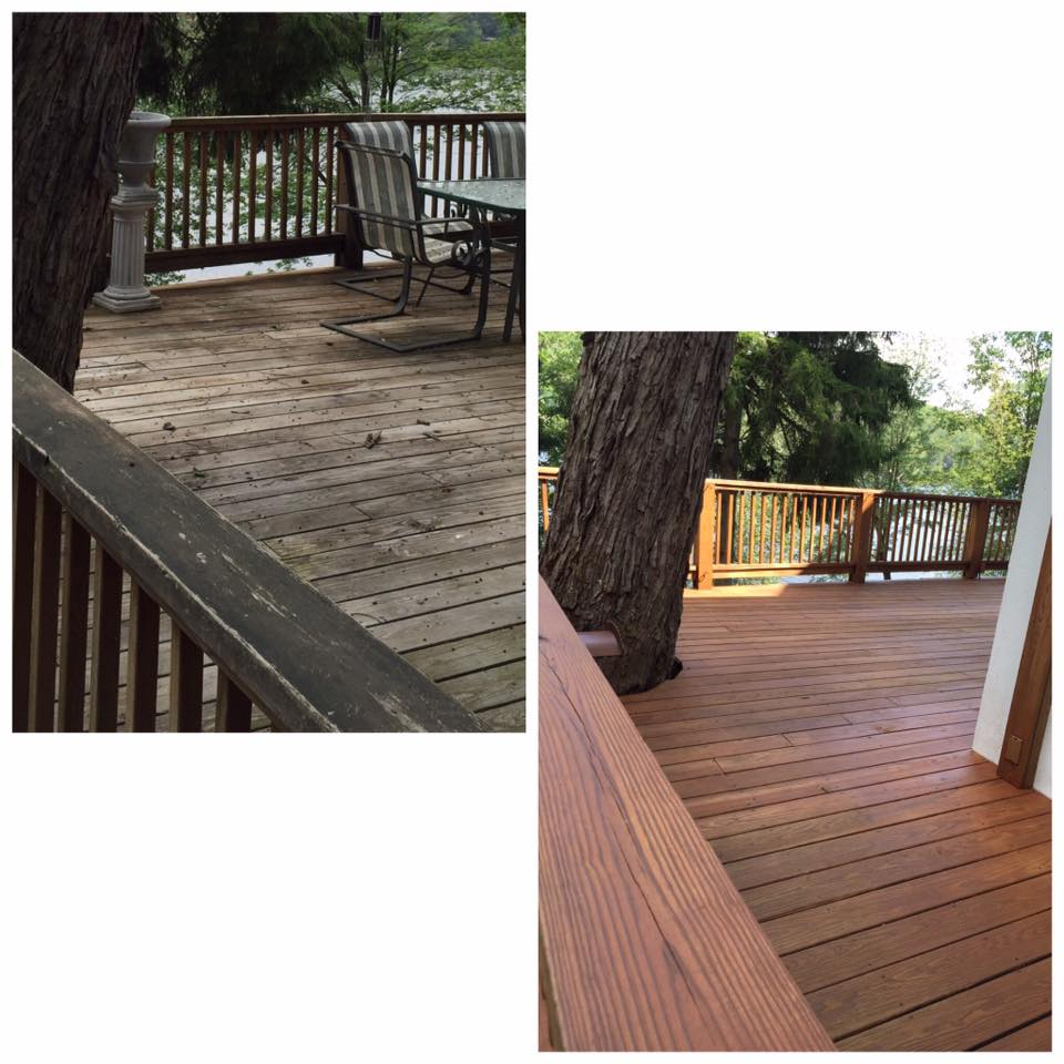 Cwf Uv Cedar Tone Deck Restoration Before After