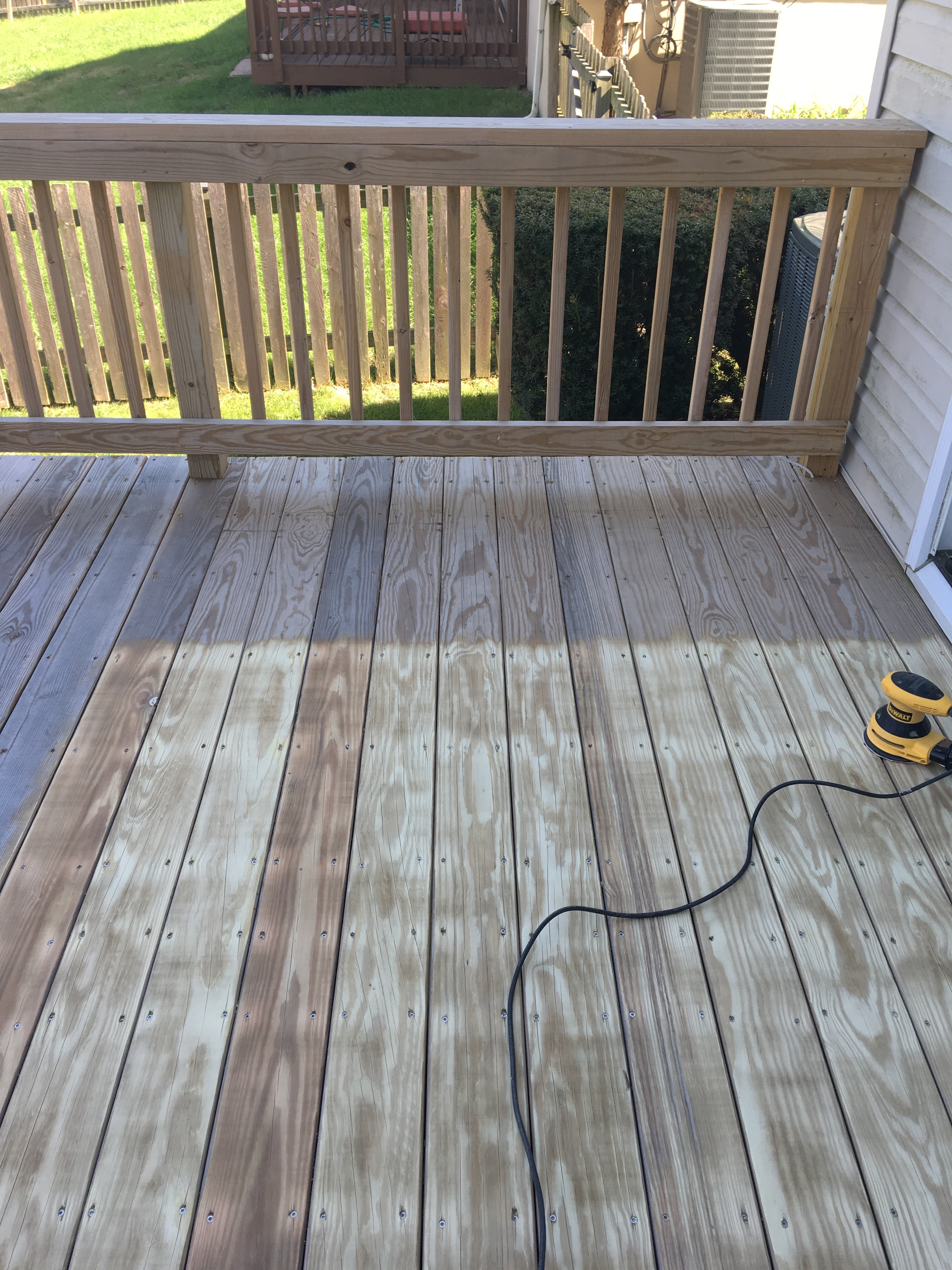 1 Year Old Deck Prep For Stain Cleaning Questions And