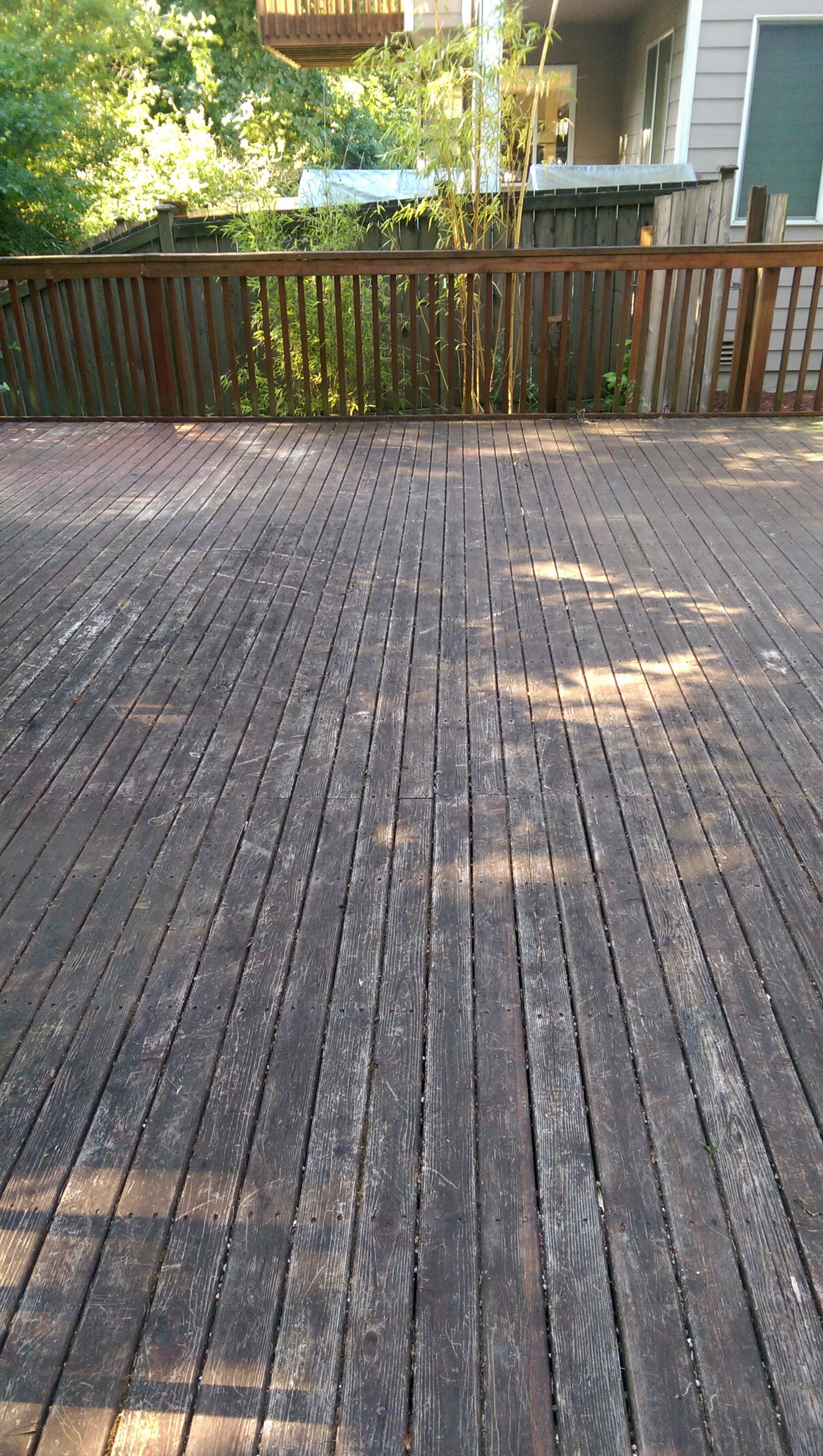Deck paint strip sorry