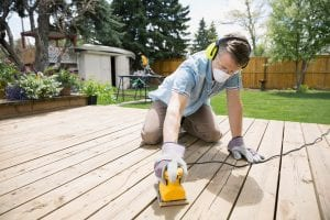 Hot To Sand a Wood Deck