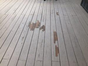 Peeling Deck Stain
