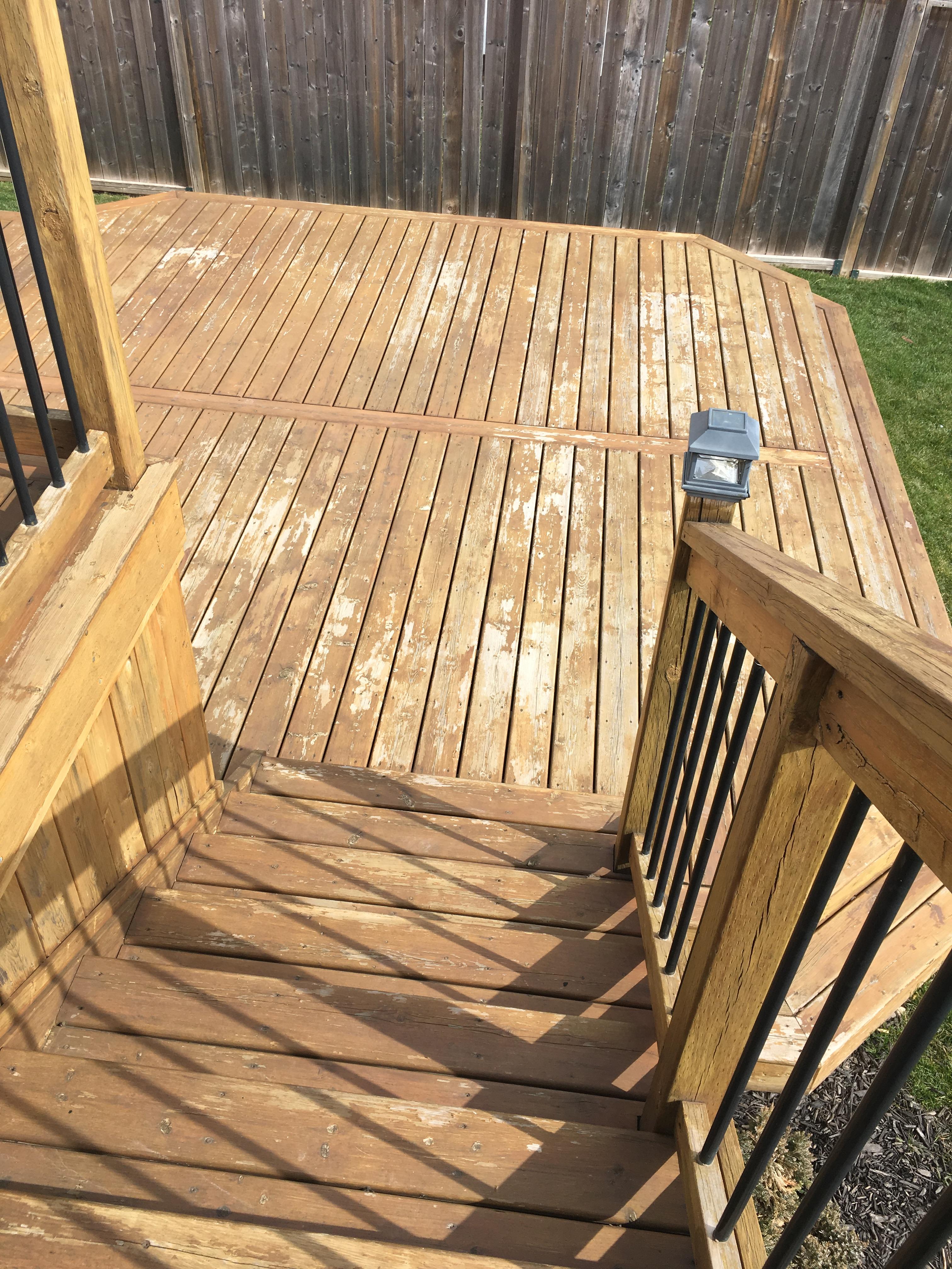 7 Months Ago Deck Stain Help