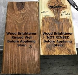 Why Rinse A Wood Brightener