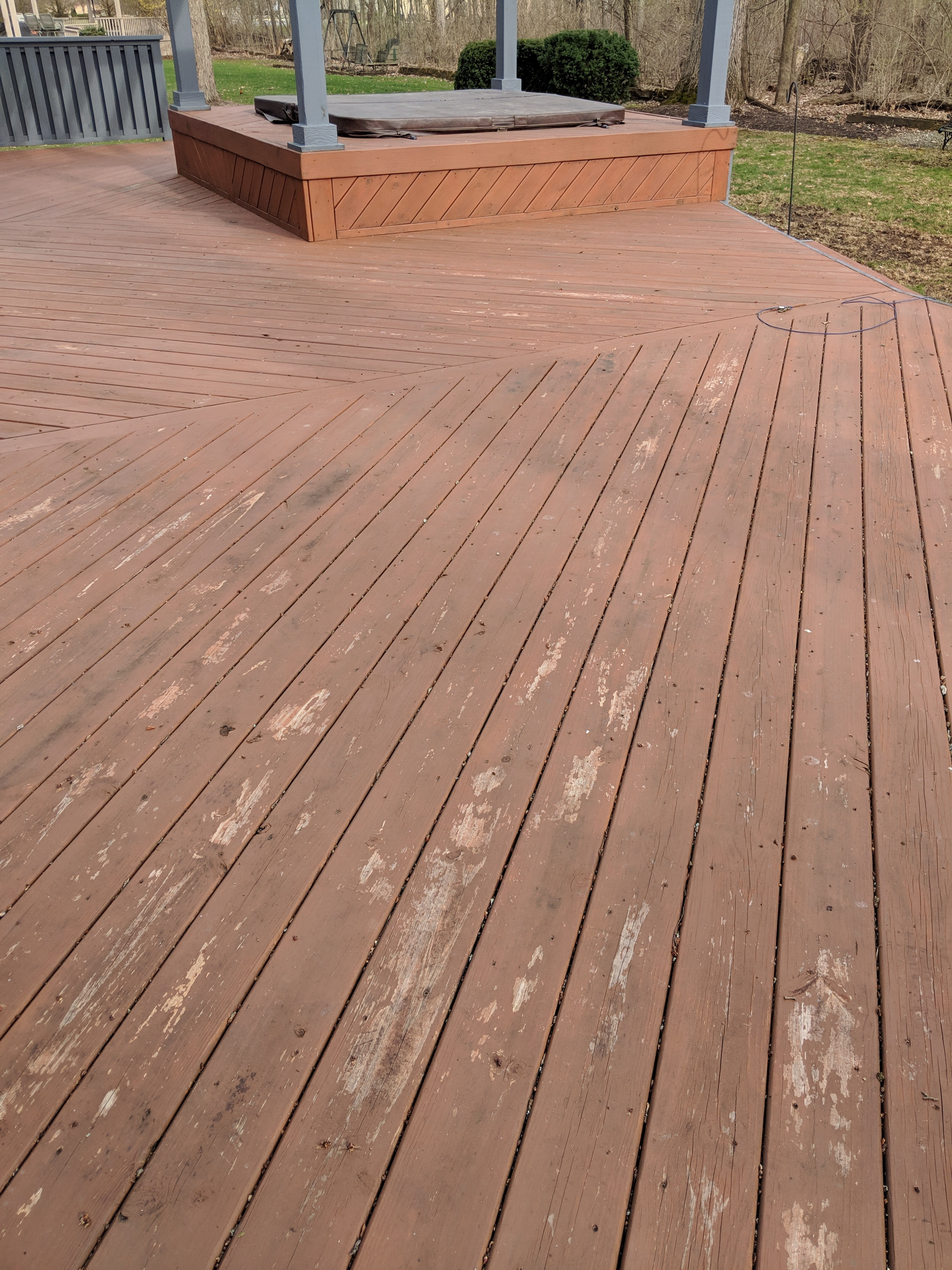 Deck Stripping Removing An Old Deck Stain Best Deck