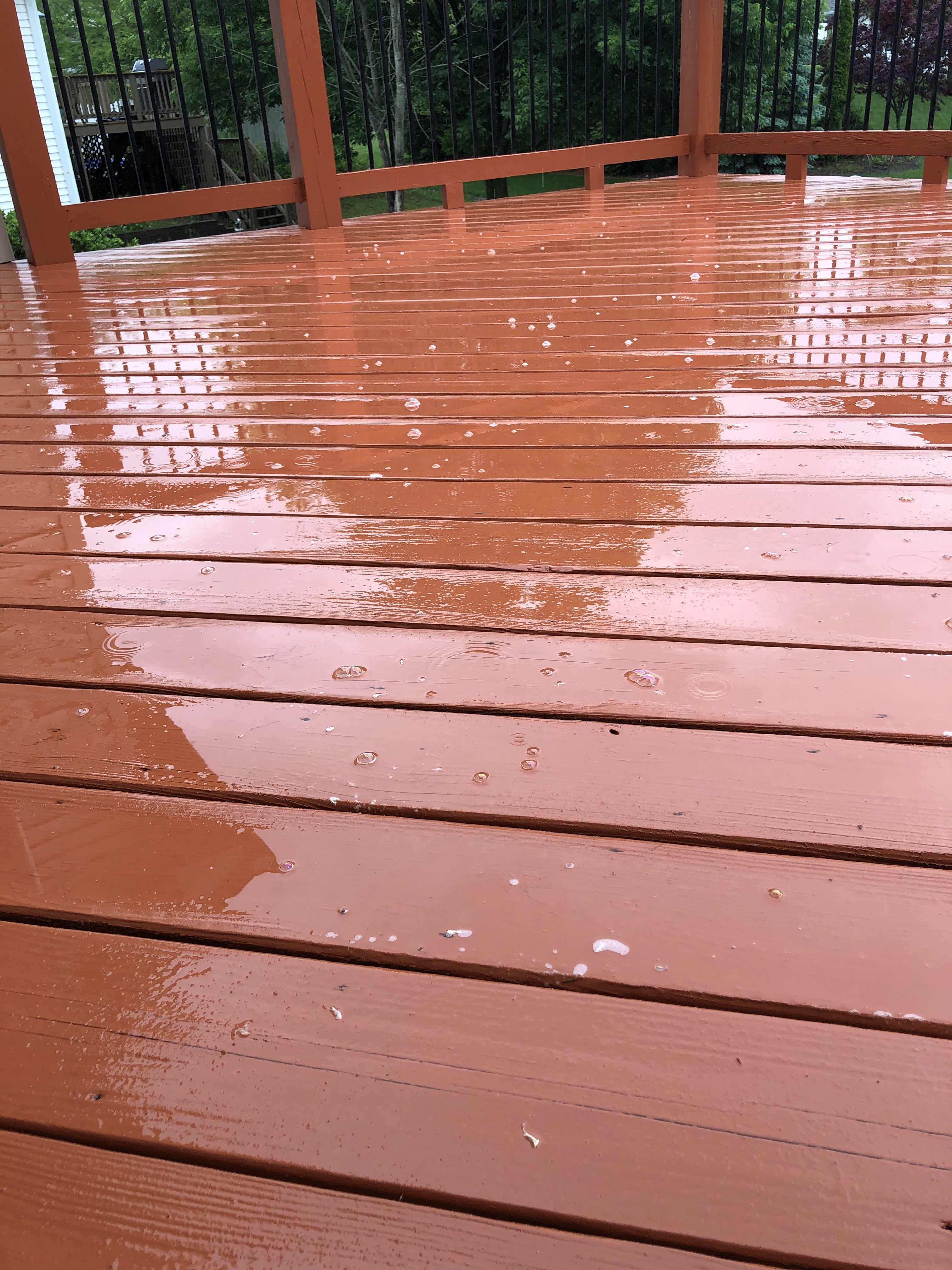 It Rained Shortly After Staining What To Do Best Deck Stain
