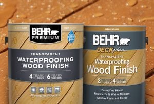 BEHR Transparent Waterproofing Wood Finish Review