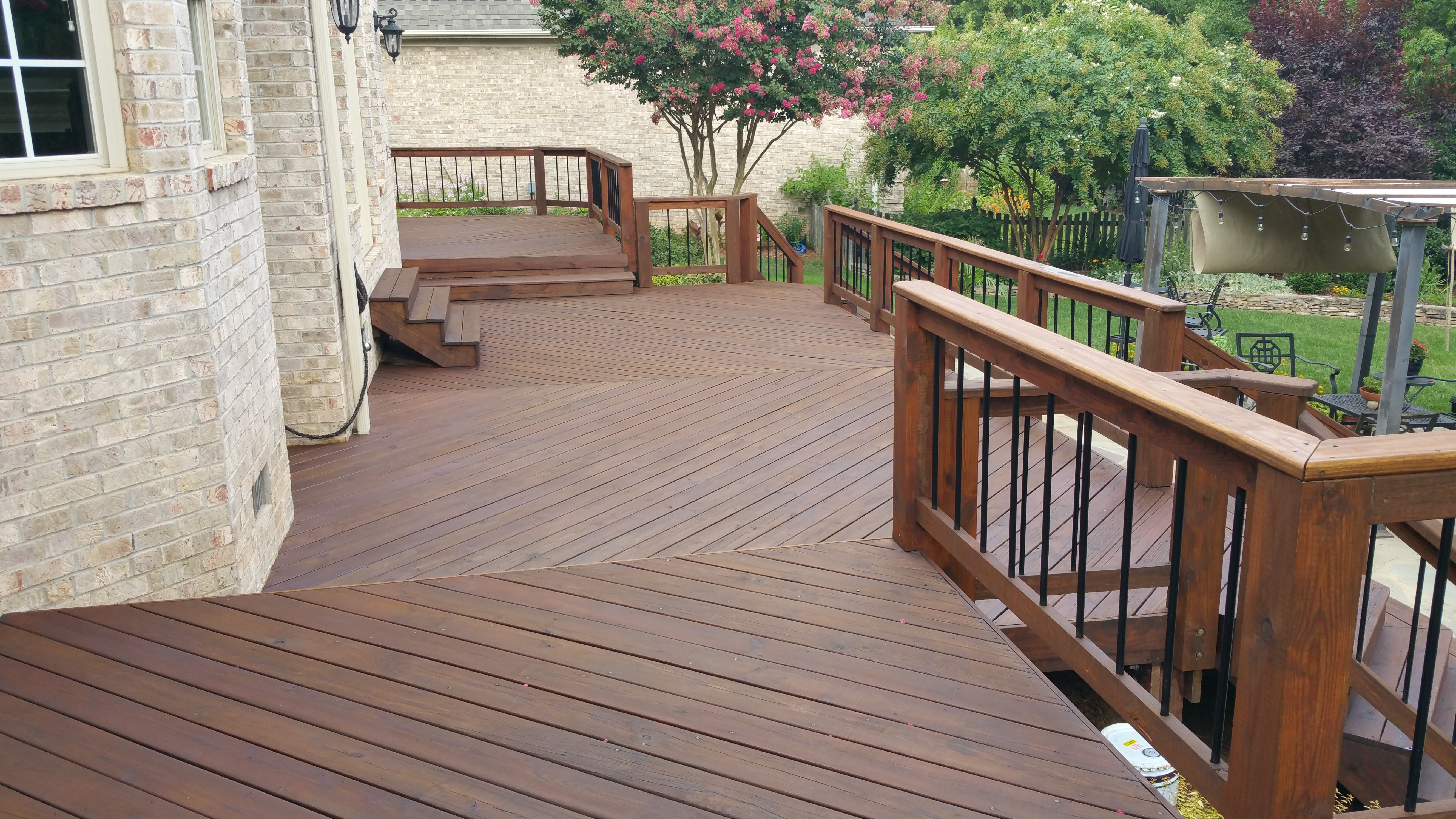 Deck Stained With Armstrong Clark Semi Transpa Oil Based