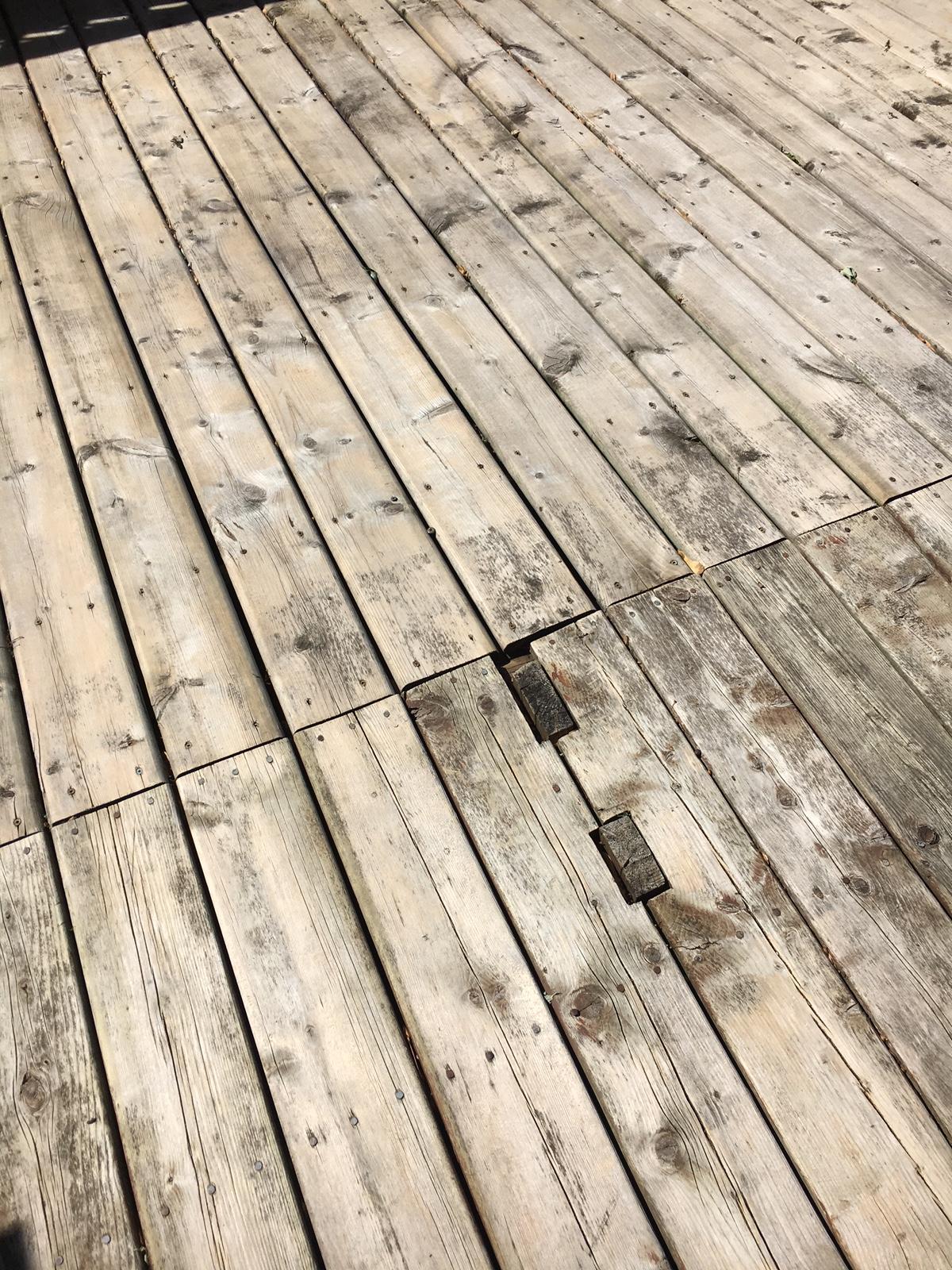Black Spots Left On Deck After Cleaning