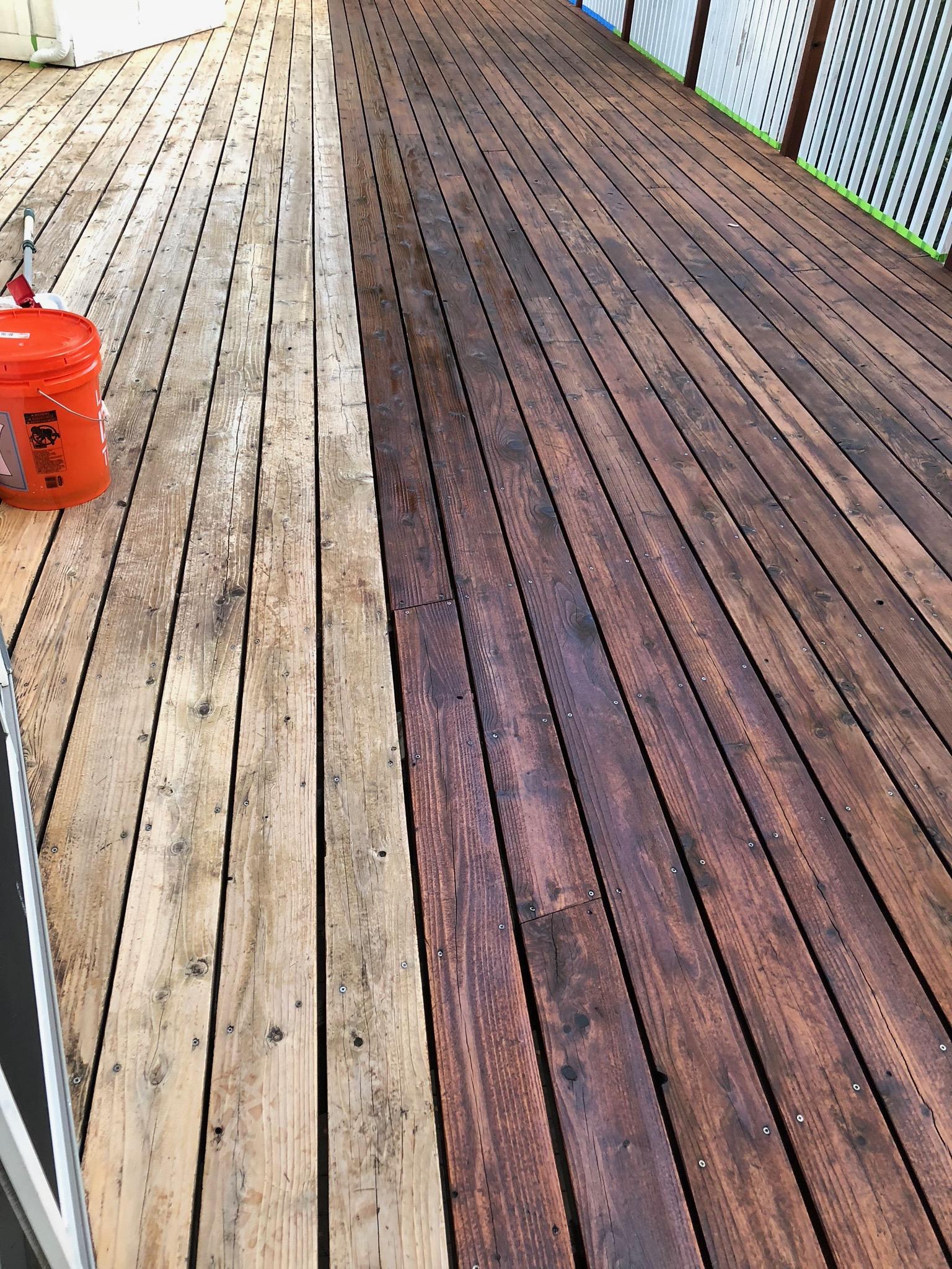 Redwood deck cleaner komelon fiber reel